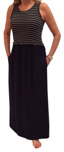 Navy blue and white Maxi Dress by Splendid Cotton Soft Maxi