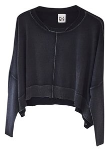 Other Cropped Athleisure Dolman Gray Sweater