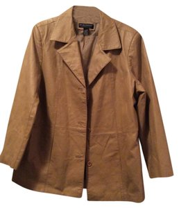 Dialogue Leather Tan Leather Jacket