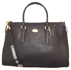 Coach Leather New Nwt Shoulder Satchel in Black