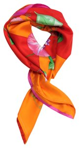 Patek Philippe PATEK PHILIPPE ORANGE, RED & PINK FLOWER SCARF