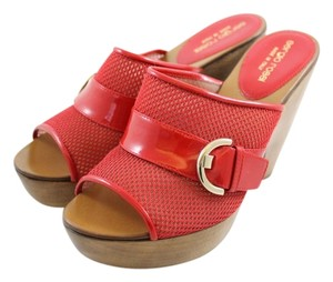 Sergio Rossi Hot Summer Red and Brown Sandals