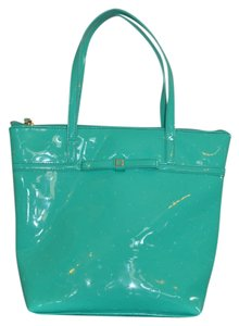 Kate Spade Patent Tote in Teal