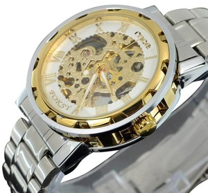 MCE Luxury Quartz Sport Watch Gold With White Trim Face-FREE SHIPPING