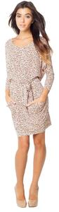 BCBGeneration short dress Nude blush/Multi on Tradesy