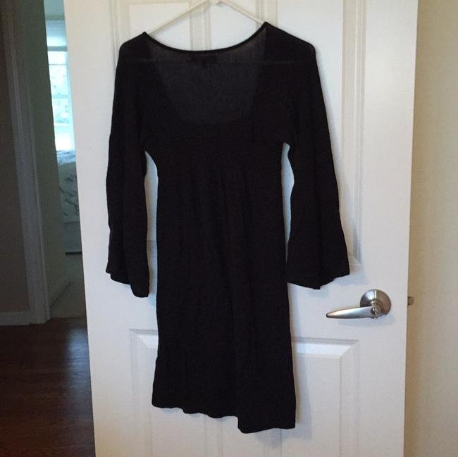Express short dress Black Sweater Square Neck Scoop Neck Flowing Sleeves on Tradesy