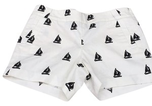 J.Crew Sailboat City Fit Shorts White/navy