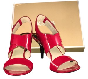 Michael Kors Shoe Heels Size 9.5m 3 In New Red Sandals