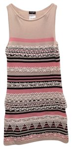 Chanel short dress Pink/white/black/lace on Tradesy