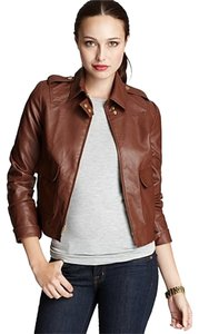 Anne Klein Brown Leather Jacket