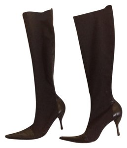 Cusica cusice Italy. Charcoal gray and black leather Boots