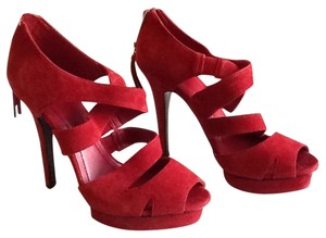 BCBGeneration Red Suede Platforms