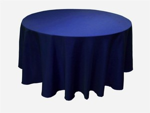Tablecloths Factory Navy Blue Round Tablecloth