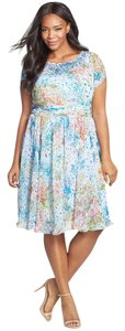 Adrianna Papell Plus-size Chiffon Dress