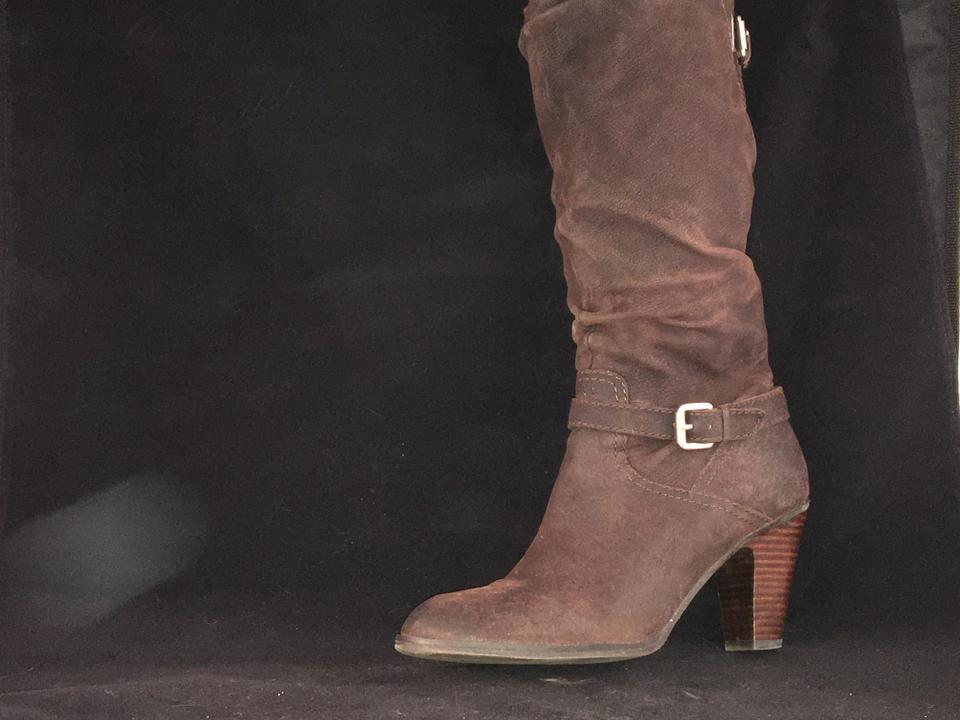 5706e4d70a4 Guess Brown Rushed with High Stacked Heel. Boots Booties. Size  US 9.5  Regular (M ...
