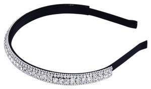 Bejeweled Rhinestone Crystal SIlk Headband Hair Jewelry Party Accessory Bandoo