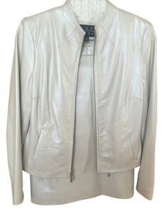Siena Studio White leather skirt suit