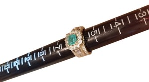 Columbian emerald 14K Columbian emerald diamond ring