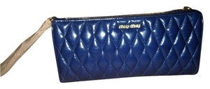 Miu Miu blue Clutch