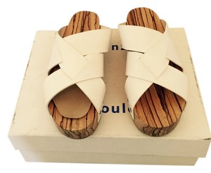 Proenza Schouler White sandals with wood soles Wedges