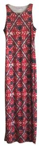 Print (reds) Maxi Dress by Topson Downs