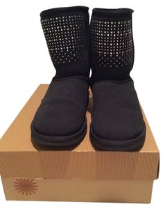 UGG Australia Black with Swarovski crystal detail on front and back too Boots