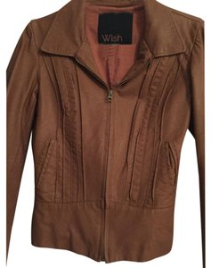 Wish Brown Leather Jacket