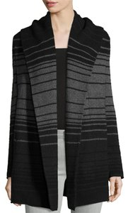 Vince Striped Blanket Open-front Cardigan