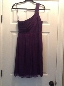 J.Crew Plum One Shoulder Bridesmaid Dress Dress