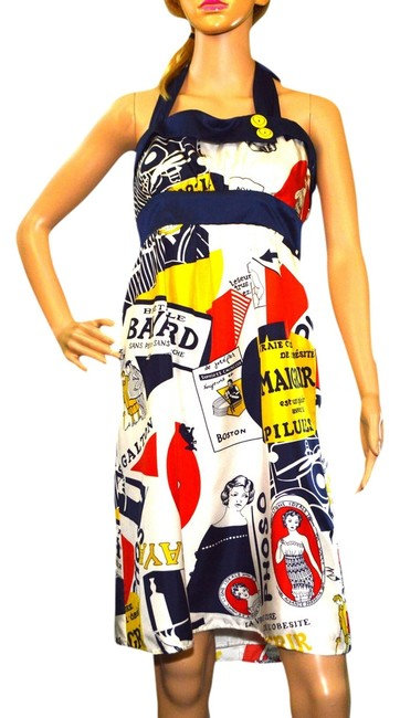 Preload https://img-static.tradesy.com/item/1006849/blue-white-reds-yellow-above-knee-workoffice-dress-size-8-m-0-0-650-650.jpg