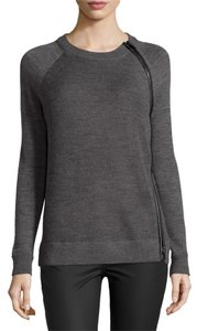 Vince Leather-trim Wool Sweater