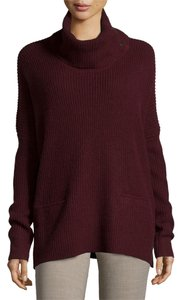 Vince Oversized Turtleneck Cherry Sweater