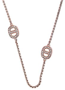 Michael Kors NWT MICHAEL KORS Rose Golden Necklace with Crystal Maritime Stations MKJ3991791
