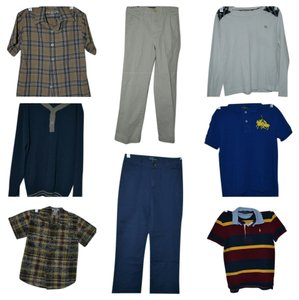Burberry Ralph Lauren Polo Janie And Jack Marks And Spencer Chaps Khaki Pants Long Sleeve Sleeve Sweater Medium Winter T Shirt white, red, yellow, blue, multi color