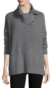 Vince Oversized Turtleneck Charcoal Sweater