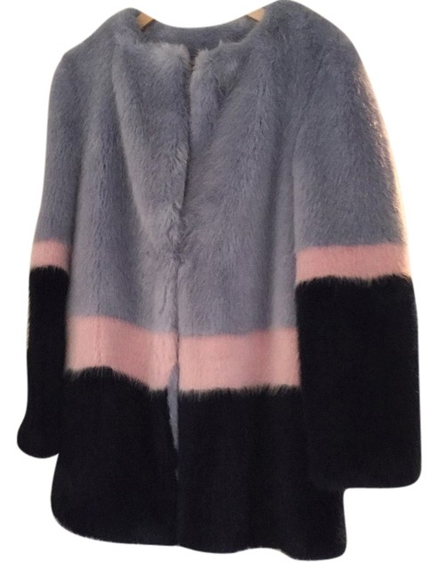 Item - Light Blue Pink and Navy Coat Size 6 (S)