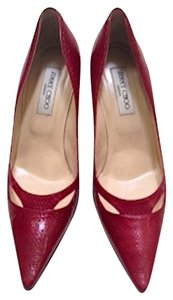 dac1e3a9f6f Jimmy Choo Snakeskin Like New Python Cherry Red Pumps