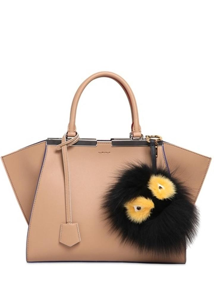 890d5633322e Fendi Grimmy Black and Yellow Fur Bag Bug Monster Key Chain Bag Charm Image  6. 1234567