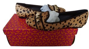 Tory Burch Haircalf Leather Suede Cheetah Print/Coconut Flats