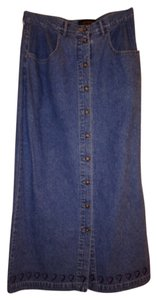 Eddie Bauer Maxi Skirt Light Blue Denim