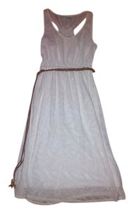 Maurices short dress White Bridal Rehearsal Shower Belted Sundress Wedding on Tradesy