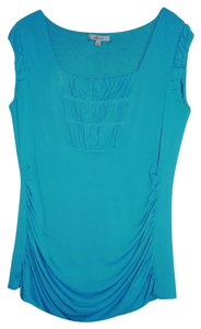 Classiques Entier Ruched Xl Women's Cap Sleeve Top Teal Green