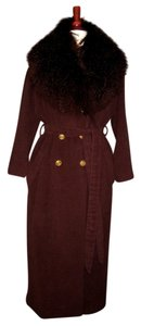 Salvatore Ferragamo Detachable Fur Collar Coat