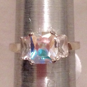 Sterling & Aurora Boreales / Topaz Ring