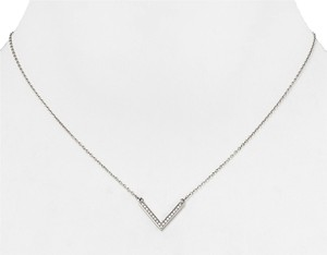 Michael Kors Michael Kors Arrow Pendant Necklace Silver Tone Clear Crystal Pave with dust bag