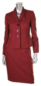 Le Suit LE SUIT NEW Womens Tuscany Red Woven Marled Skirt Suit Petites 12P. Ships in one day.