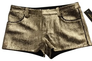 Juicy Couture Nye Sequin Holiday Party Shiny Dress Shorts Gold