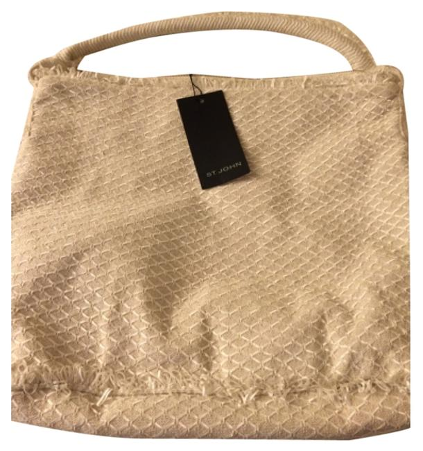 Item - Gesso White Rayon/Wool Tote