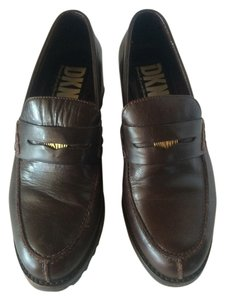 DKNY Leather Vintage Brown Mules