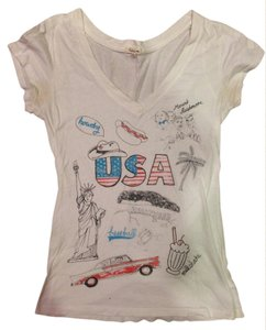 Heritage 1981 Patriotic 4th Of July T Shirt Off-White